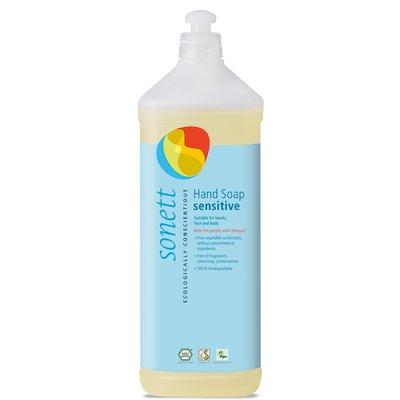 Sapun lichid - gel de dus ecologic SENSITIVE 1L, Sonett