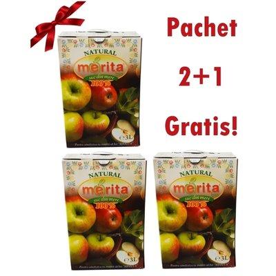 Suc de mere bio 3L pachet 2+1 GRATIS