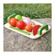 Tocator cu fructe din lemn, Multicolor