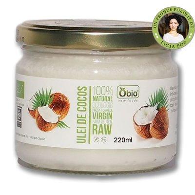 Ulei de cocos raw bio 220ml Obio