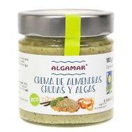 Unt de migdale cu alge raw bio 180g Algamar