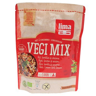 Vegi mix orez, linte si susan bio 250g Lima PROMO
