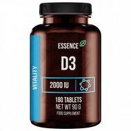 Vitamina D3 2000 UI, 180 tablete, Essence