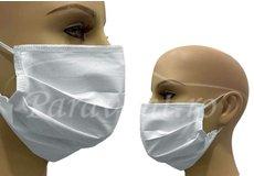 Masca alba de protectie refolosibila din bumbac 100%