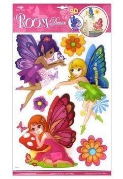 Set 3 stickere, pentru perete Fairies