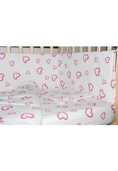 Aparatoare laterala 180 x 30 cm, inimioare roz