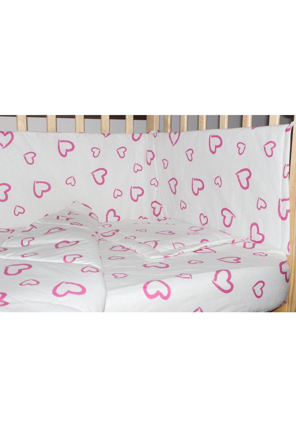 Aparatoare laterala 180 x 30 cm, inimioare roz imagine