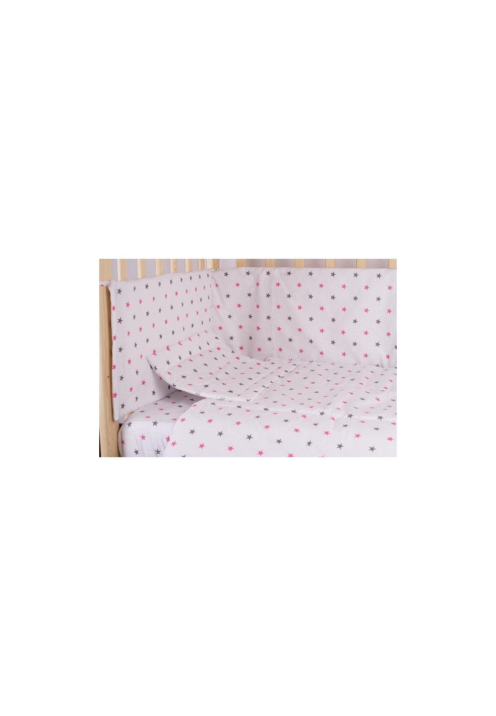 Aparatoare laterala 180 x 30 cm, stelute roz cu gri imagine