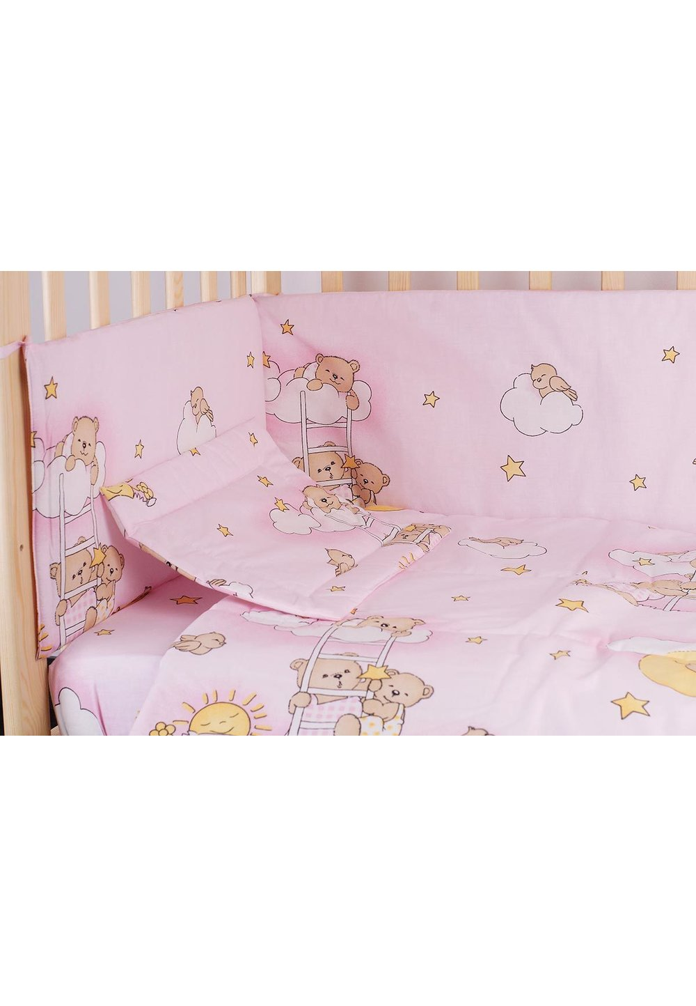 Aparatoare laterala 180 x 30 cm, ursuletul somnoros roz imagine
