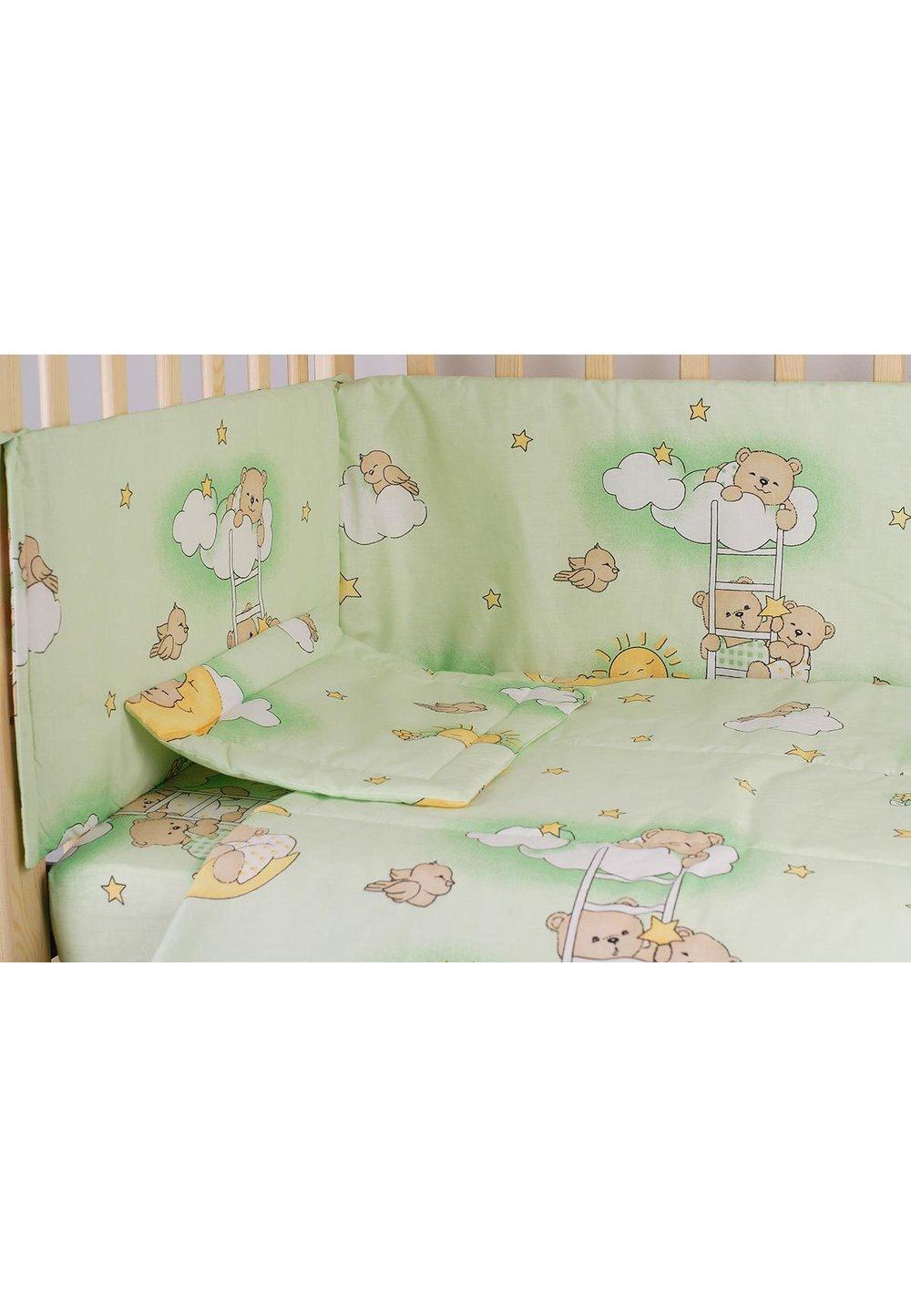 Aparatoare laterala, ursuletul somnoros verde, 180 x 30 cm imagine