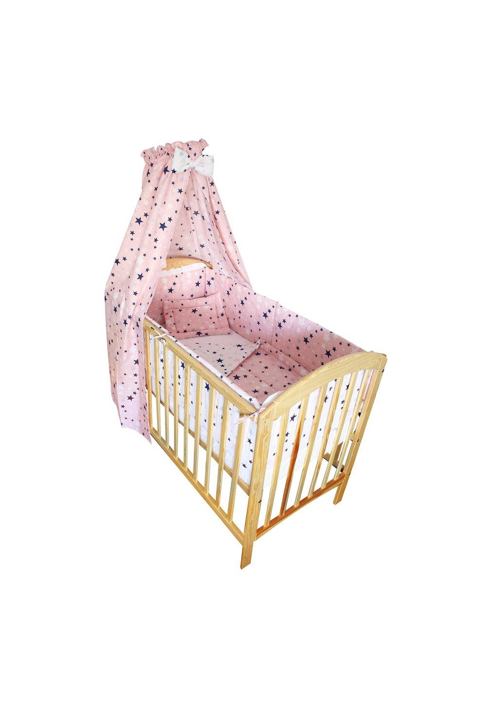 Baldachin patut, stelutele, roz, 200 x 150 cm imagine