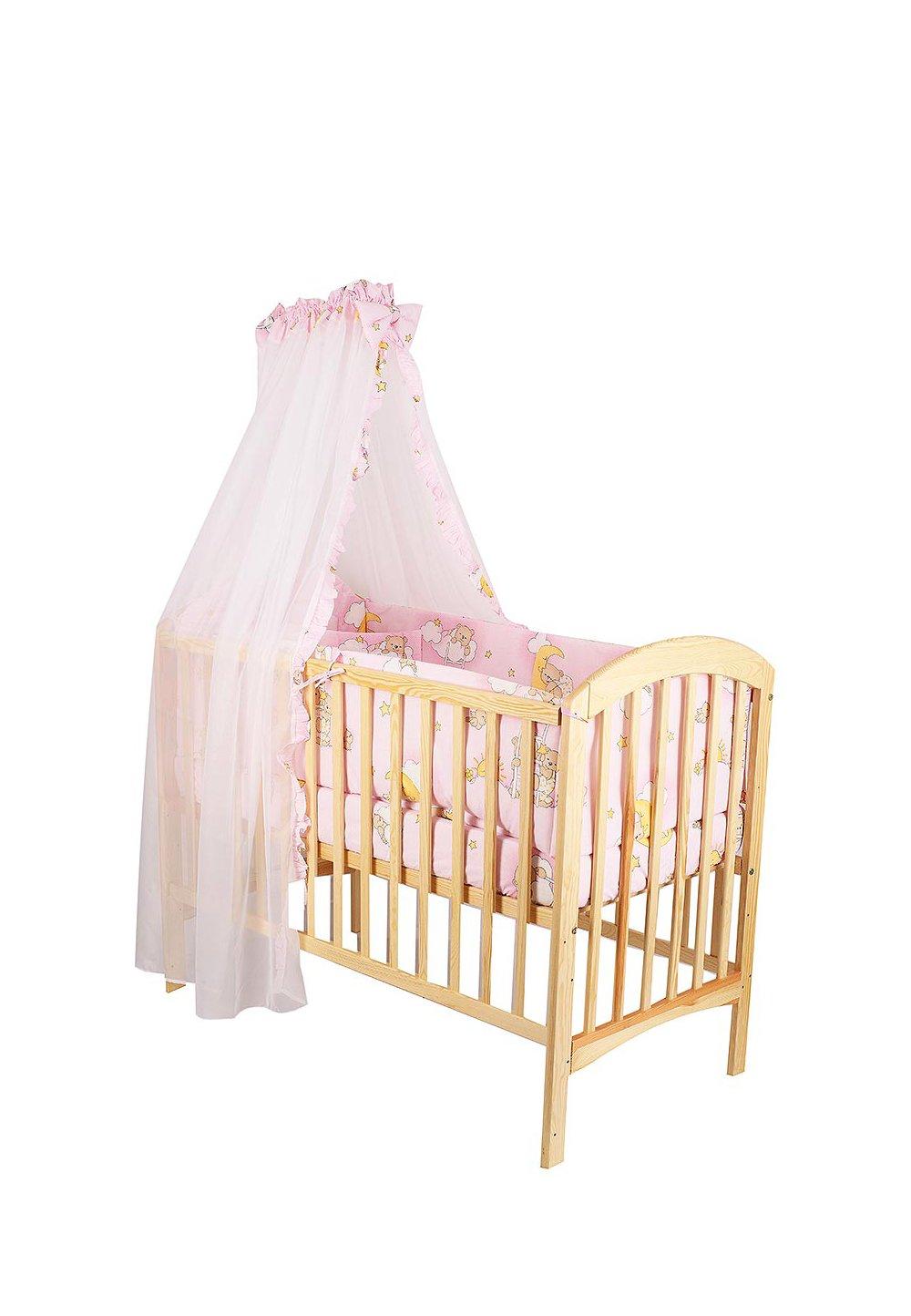 Baldachin patut,ursuletul somnoros, roz, 300x160 cm imagine