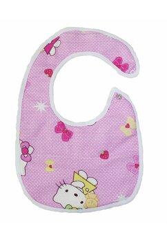 Baveta bebe, Hello Kitty, roz deschis, 0-6 luni