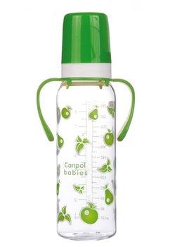 Biberon Canpol, cu maner, 12luni, verde, 250 ml