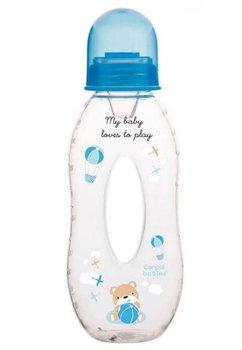 Biberon Canpol, My baby loves to play, albastru, 250 ml