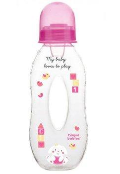 Biberon Canpol, My baby loves to play, roz, 250 ml