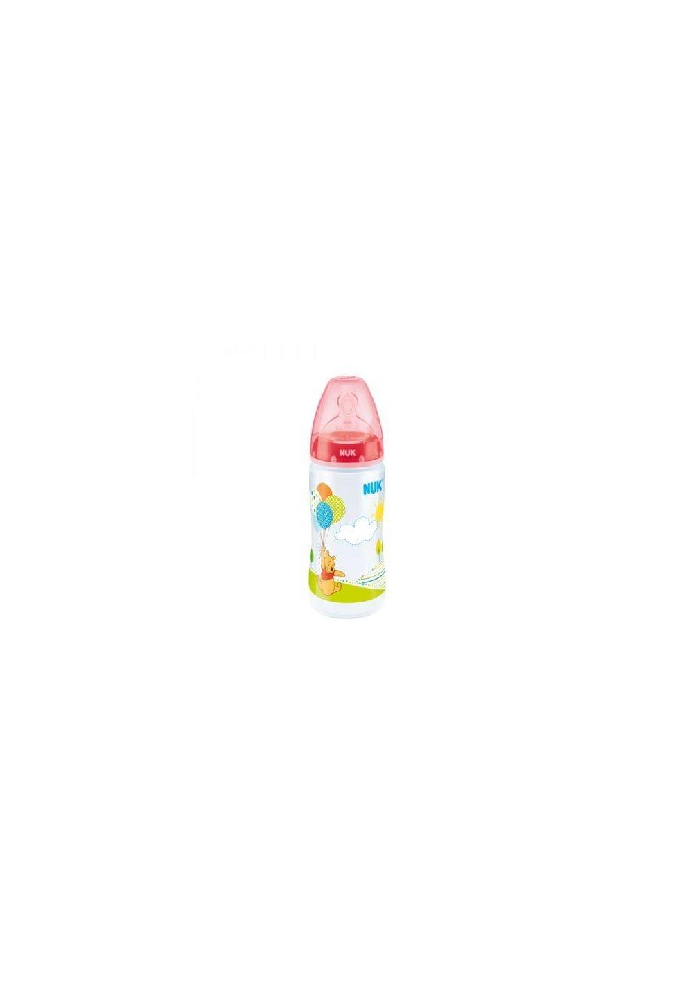 Biberon Nuk 0-6luni, rosu, 300 ml