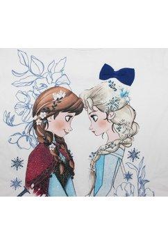Bluza, Ana si Elsa, alba cu fundita albastra