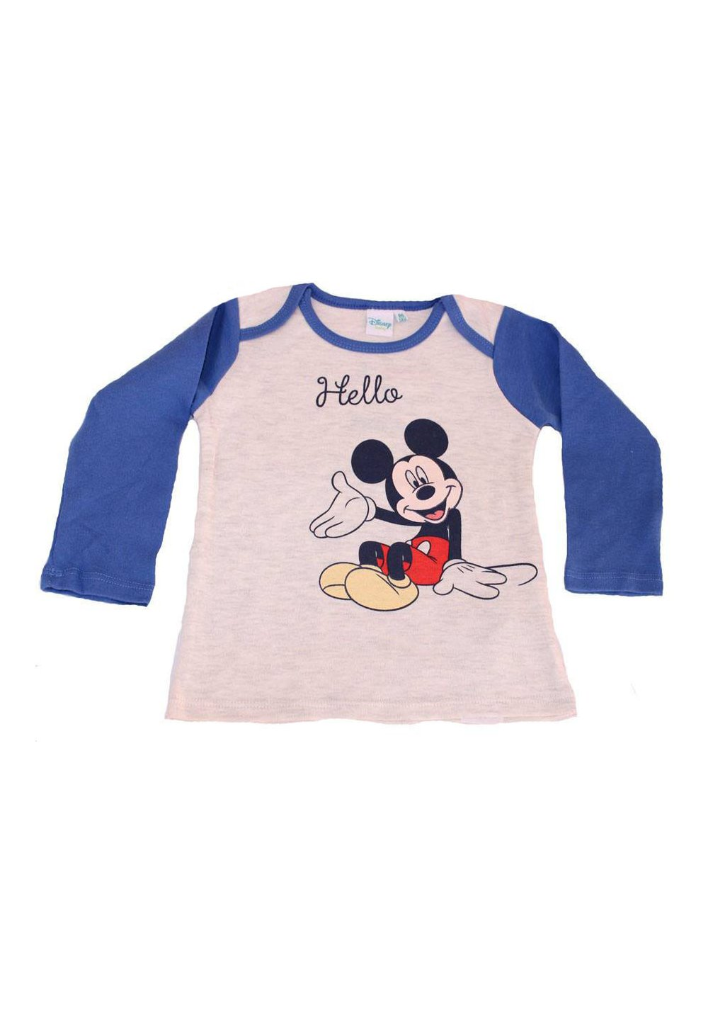 Bluza bebe, Hello Mickey, albastru imagine