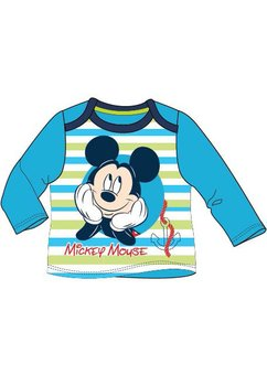 Bluza bebe Mickey cu dungi albastre