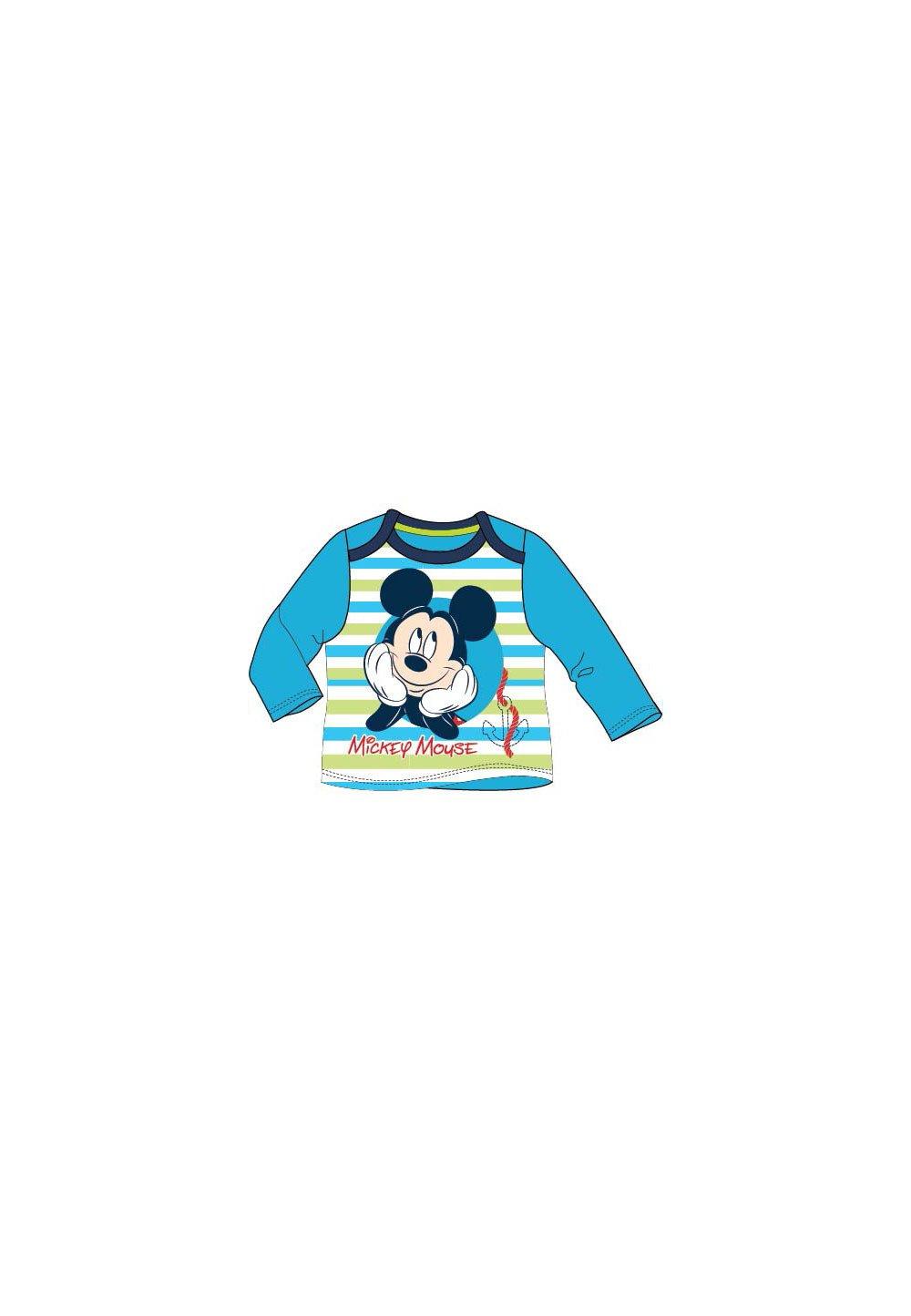 Bluza bebe Mickey cu dungi albastre imagine