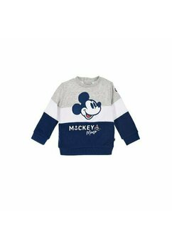 Bluza bebe, Mickey Mouse, gri cu bluemarin