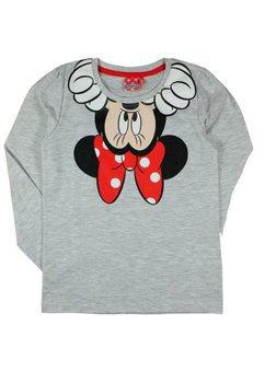 Bluza gri, Minnie Mouse cu fundita rosie