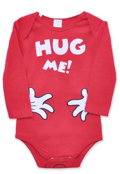 Body maneca lunga, Hug me, rosu