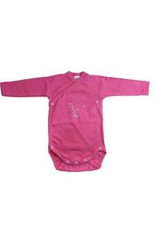 Body maneca lunga, roz, iepuras cu balon