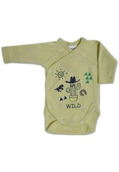 Body maneca lunga, Wild, verde