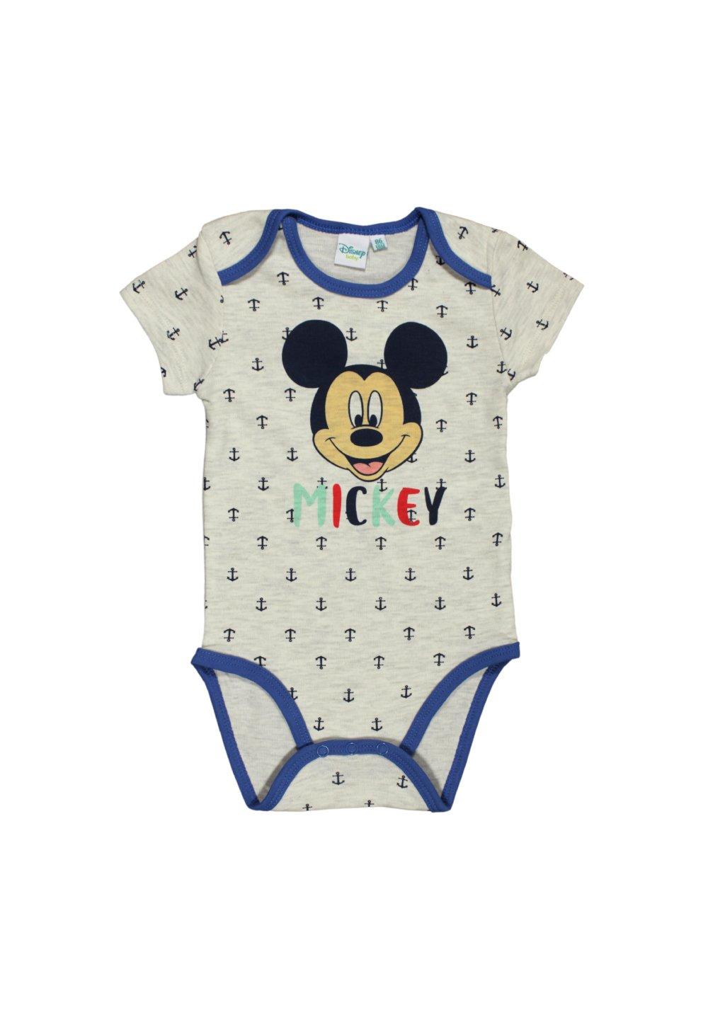 Body maneca scurta, Mickey Mouse, crem cu ancore imagine