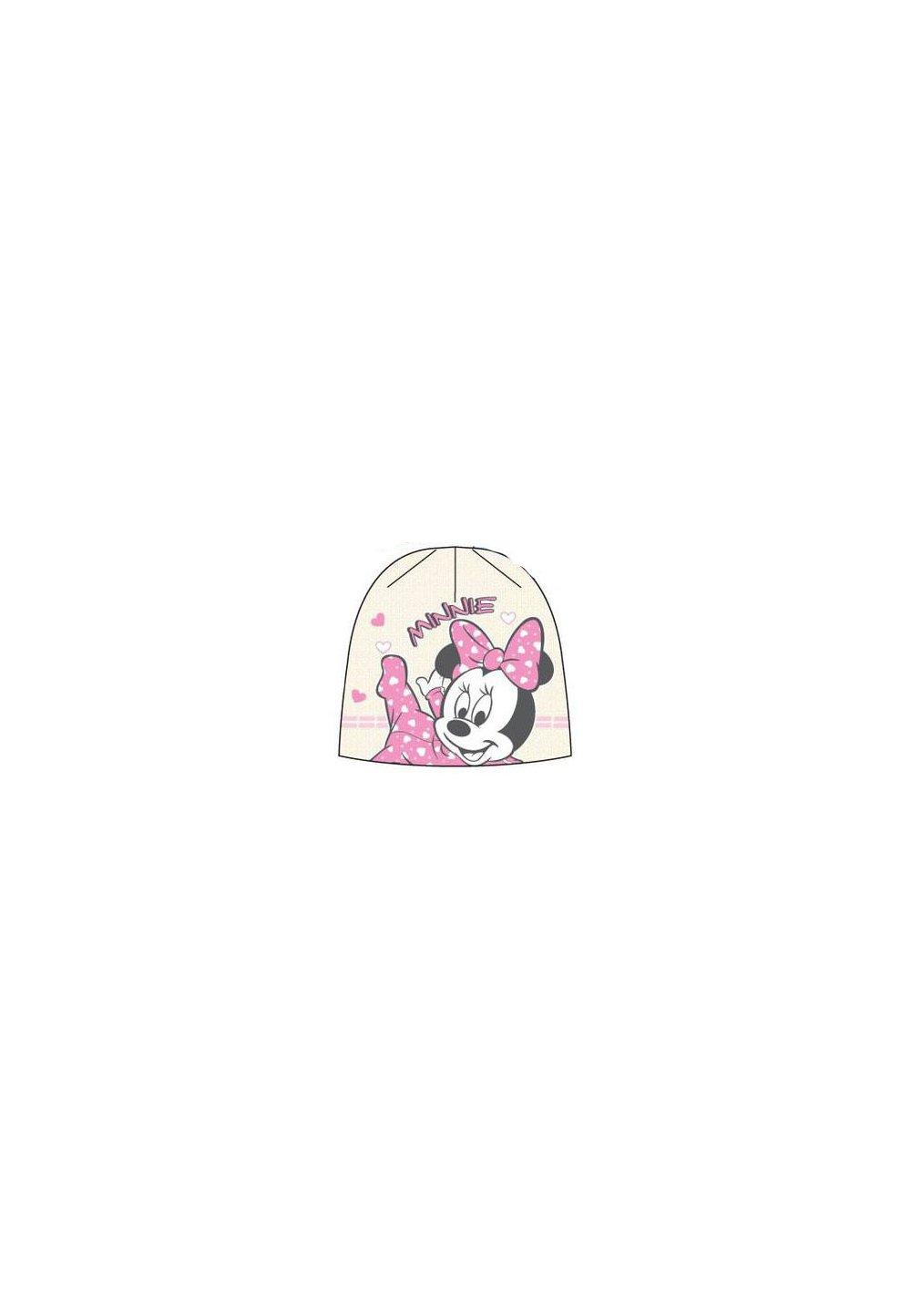Caciula bebe, ivory, Minnie Mouse imagine