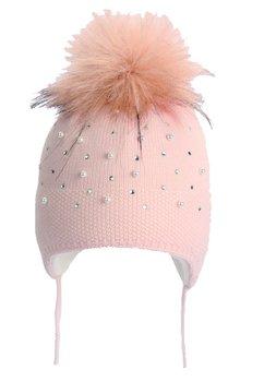 Caciula, cu perle, roz