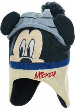 Caciula, Mickey Mouse, albastra cu ciucur