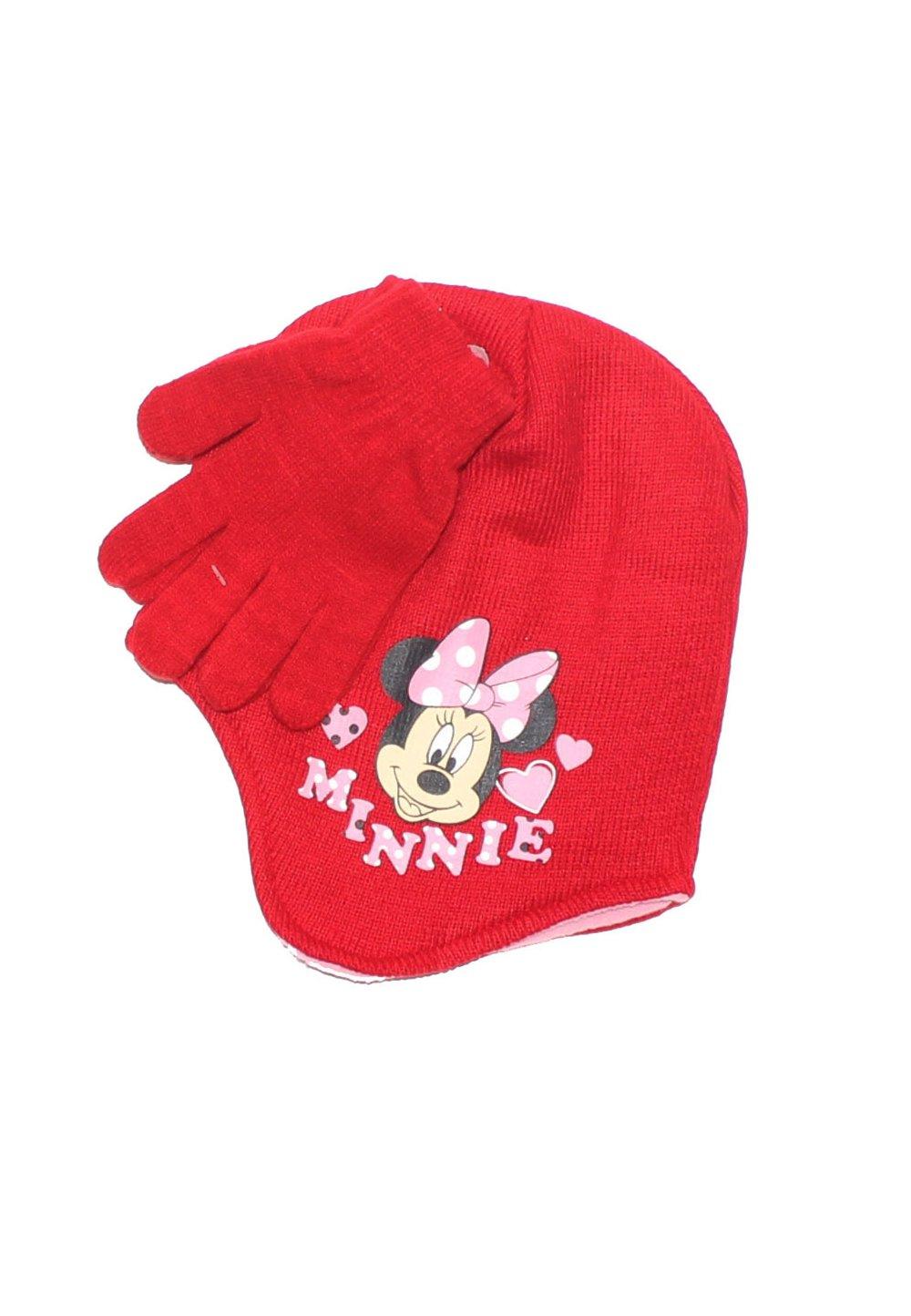 Caciula si manusi, Minnie Mouse, rosii imagine