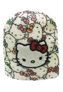 Caciula tricotata Hello Kitty crem