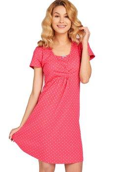 Camasa pentru alaptat, Milly, roz inchis cu buline