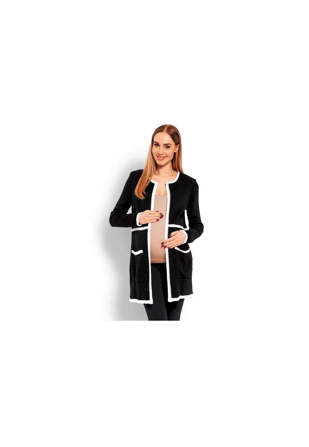 Cardigan tricotat, negru imagine