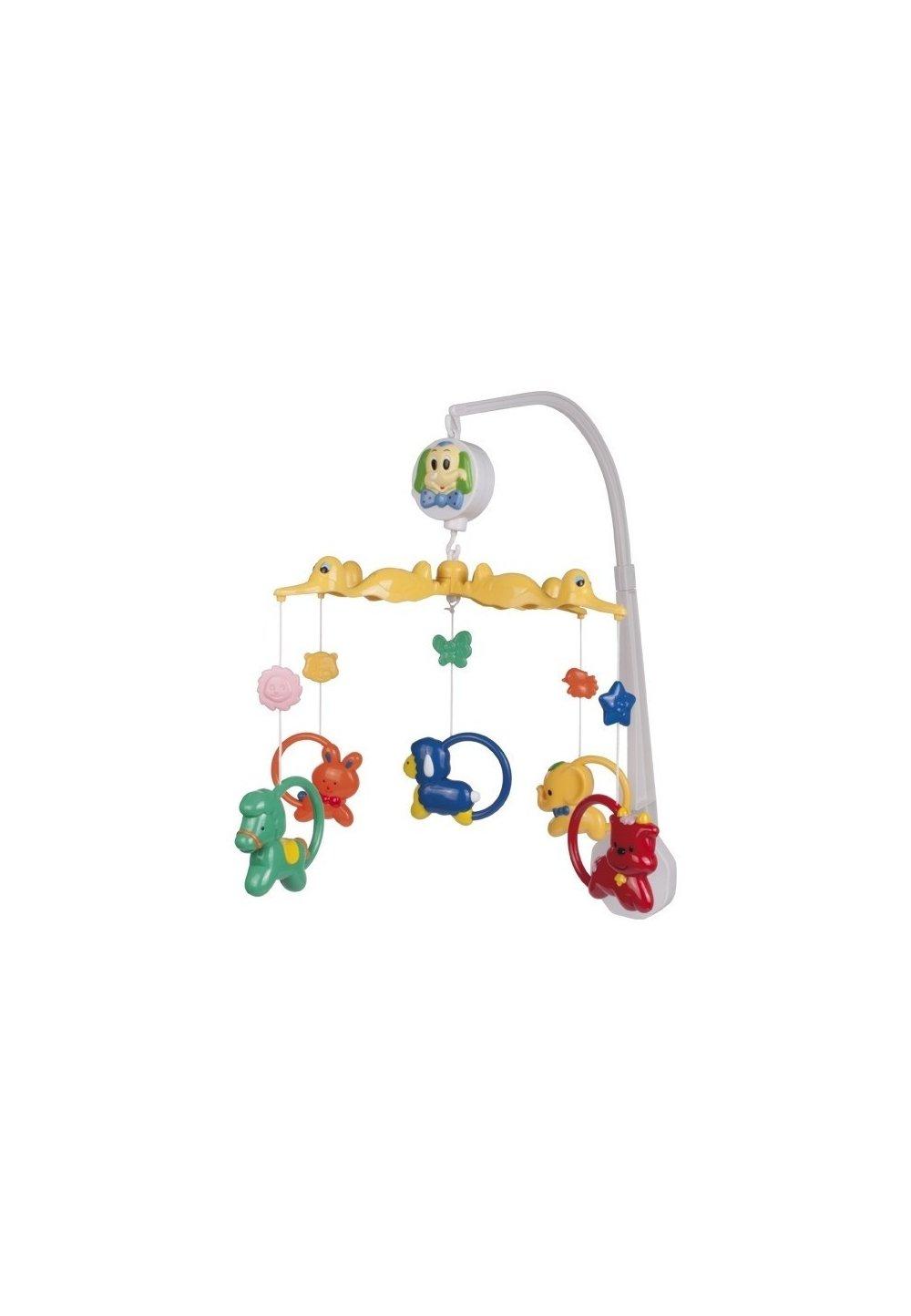 Carusel muzical, plastic, animalute colorate imagine
