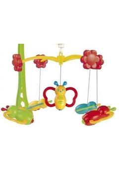 Carusel muzical, plastic cu fluturasi