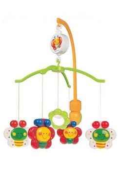 Carusel muzical, plastic, fluturasi colorati