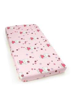Cearceaf bumbac ,120 X 60 cm ,kitty roz