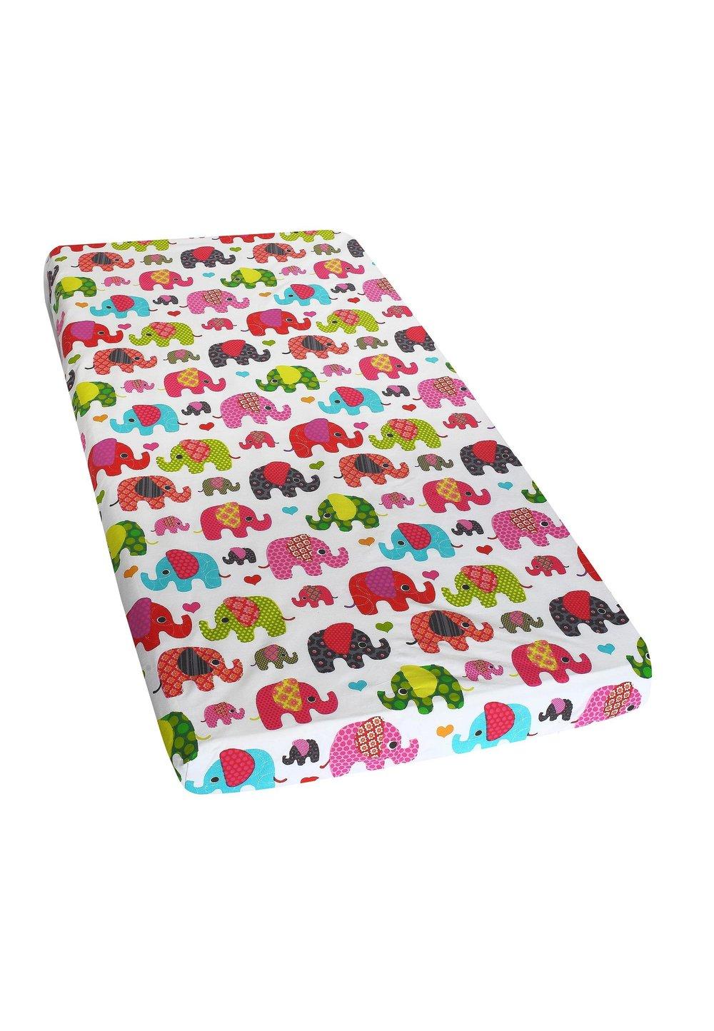 Cearceaf bumbac, elefantei roz, 120x60 cm imagine