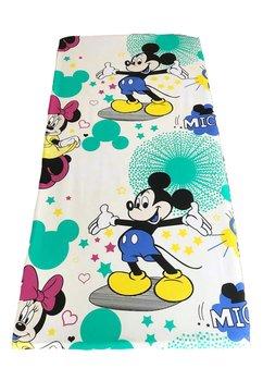Cearceaf Minnie si Mickey, 120x60 cm, crem