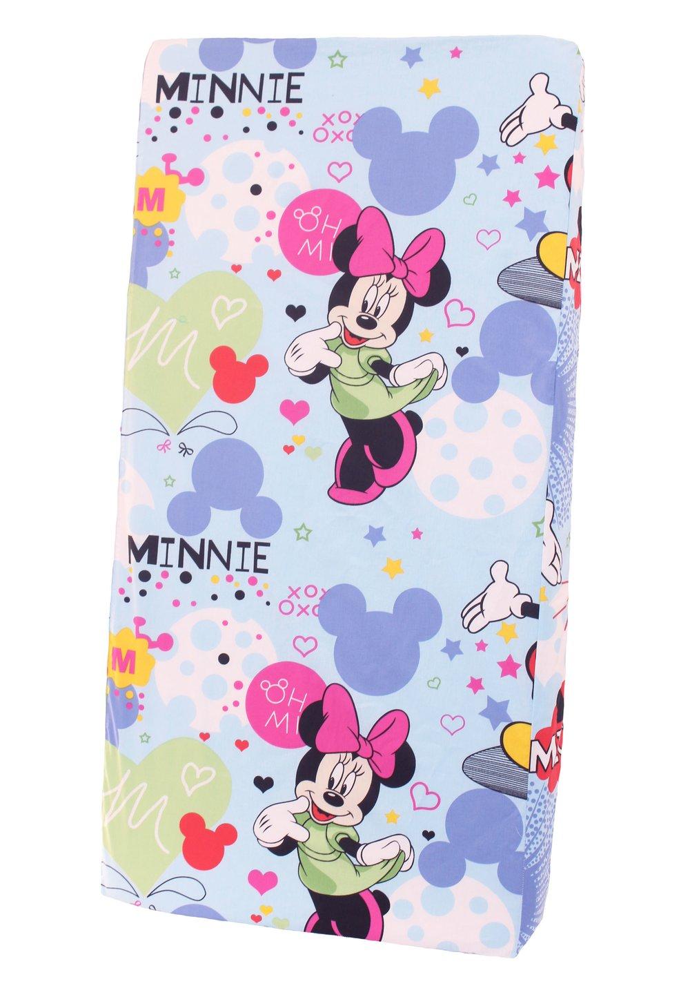Cearceaf patut, albastru, Minnie si Mickey, 120x60cm imagine