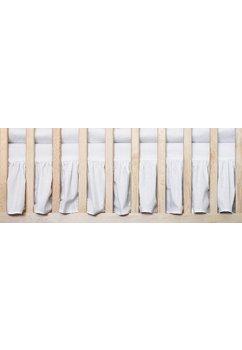 Cearceaf patut cu volanas, alb, 120x60 cm