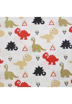 Cearceaf patut, dinozauri, rosii, 120x60cm