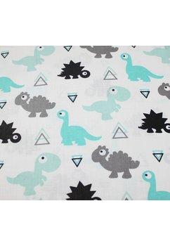 Cearceaf patut, dinozauri, turcoaz, 120x60cm