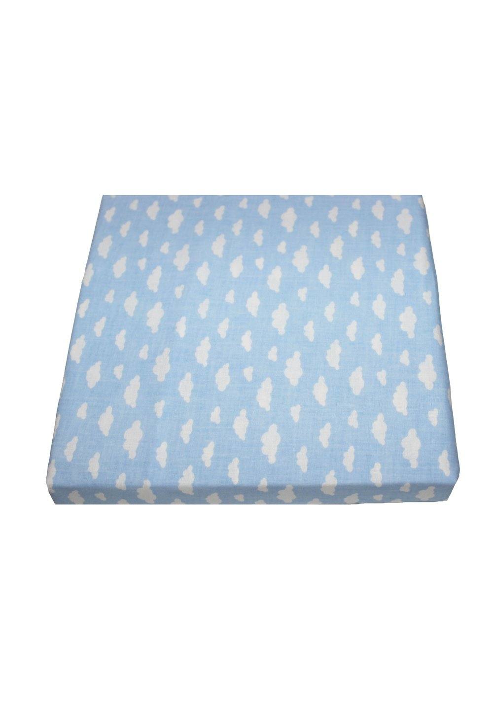 Cearceaf patut, norisori albastri, 120x60cm imagine