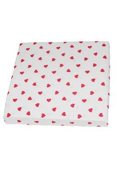 Cearceaf patut, Red hearts, 120x60cm